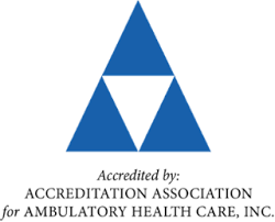 Accredited by: Accreditation Association for Ambulatory Health Care, Inc.